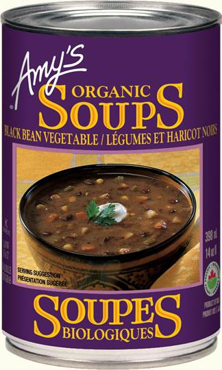 Food & Drink - Amy's Kitchen - Organic Black Bean Vegetable Soup, 398ML