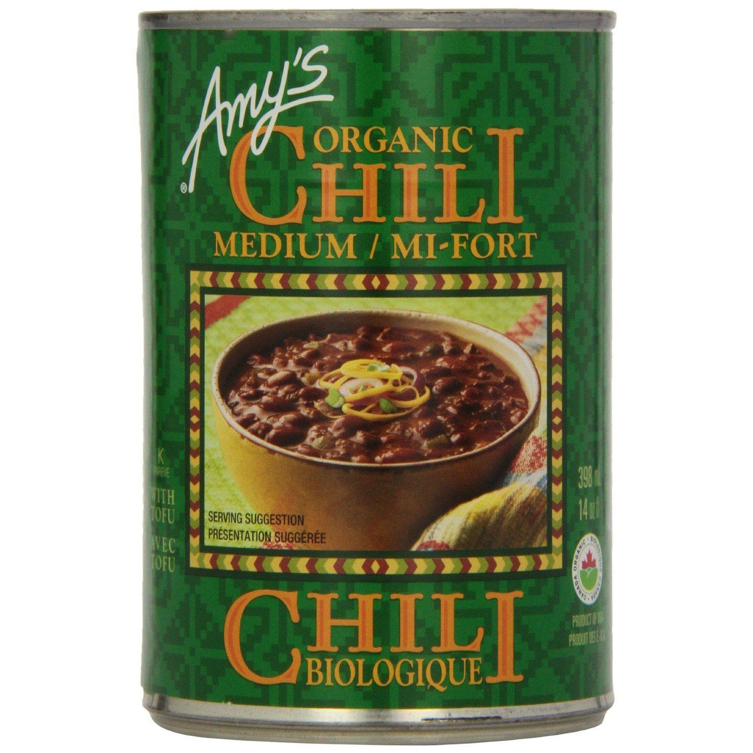 Food & Drink - Amy's Kitchen - Organic Medium Chili, 398ML
