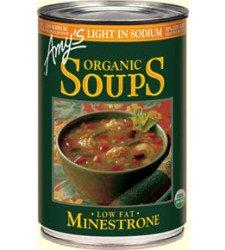 Food & Drink - Amy's Kitchen - Organic Minestrone Soup Low Sodium, 398ML