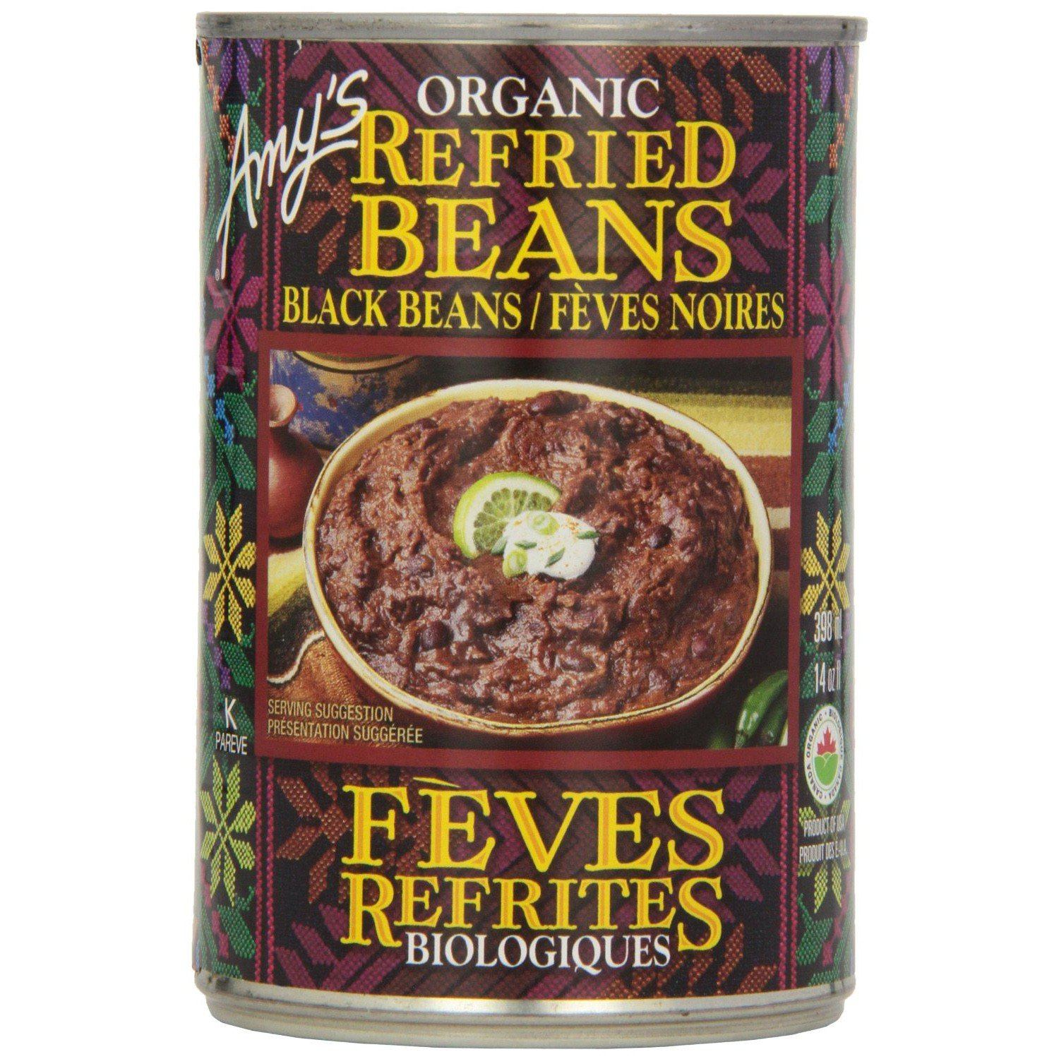 Food & Drink - Amy's Kitchen - Organic Refried Beans With Chiles, 398ML