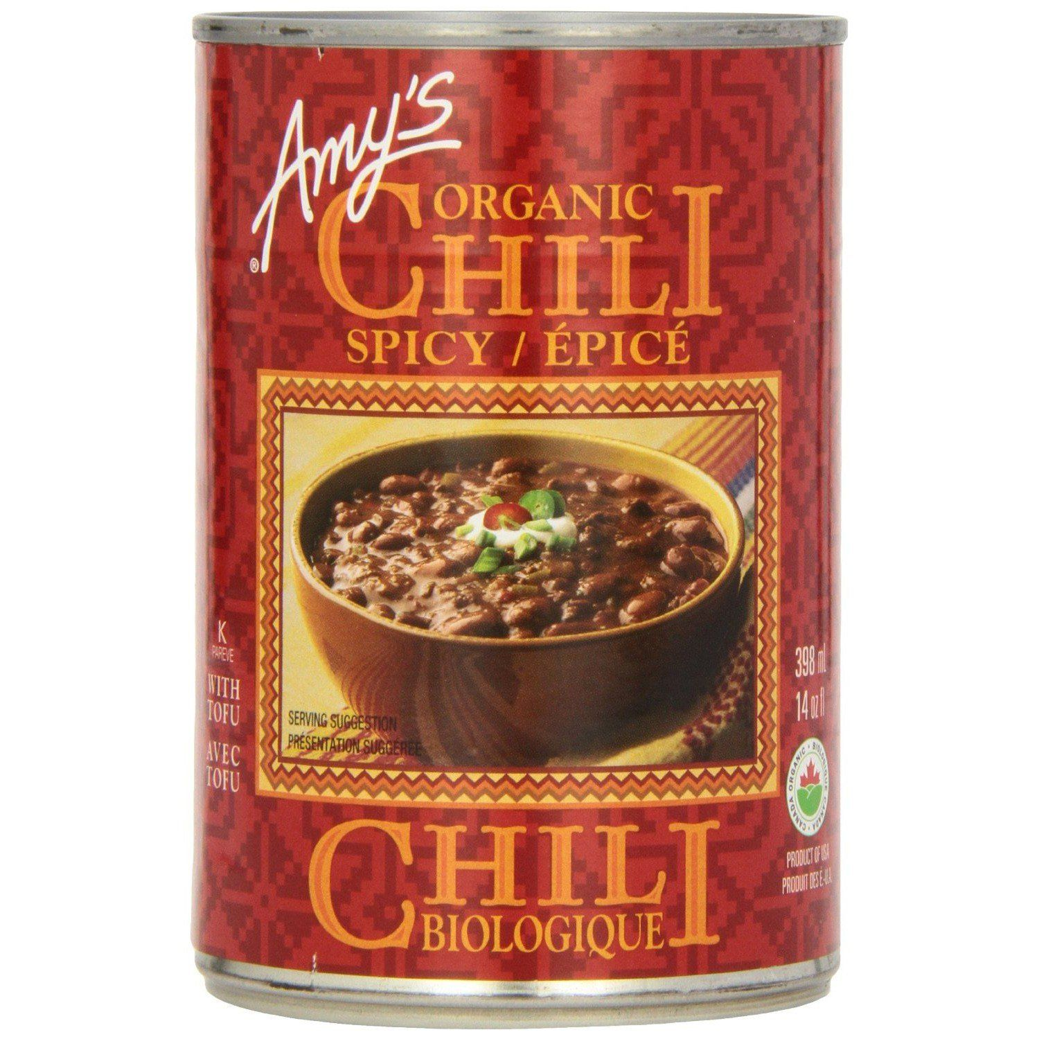 Food & Drink - Amy's Kitchen - Organic Spicy Chili, 398ML