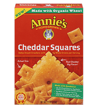 Food & Drink - Annie's - Cheddar Squares Crackers, 213G