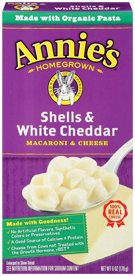 Food & Drink - Annie's - Shells & White Cheddar, 170g