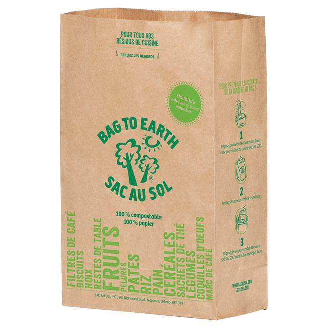 Food & Drink - Bag To Earth - Small Food Waste Bag, Small