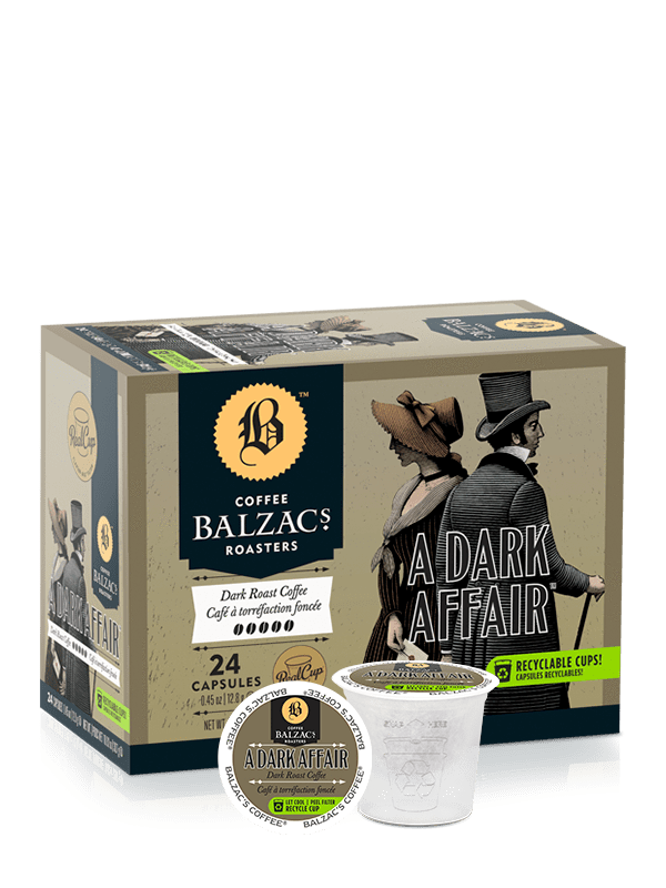 Food & Drink - Balzac's - A Dark Affair - Single Serve, 24 Pods
