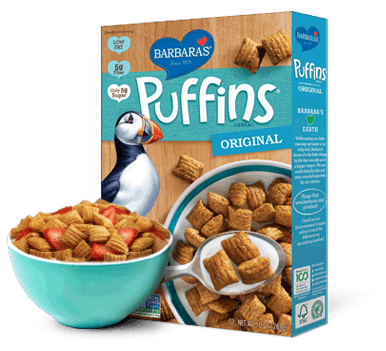Food & Drink - Barbara's Bakery - Original Puffins Cereal - 285g