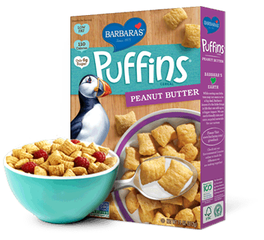 Food & Drink - Barbara's Bakery - Peanut Butter Puffins - 312g