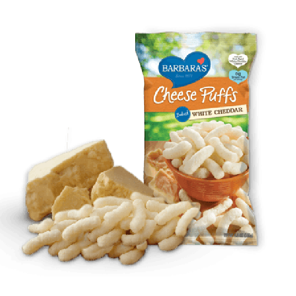 Food & Drink - Barbara's Bakery - White Cheddar Cheez Puffs, 155G