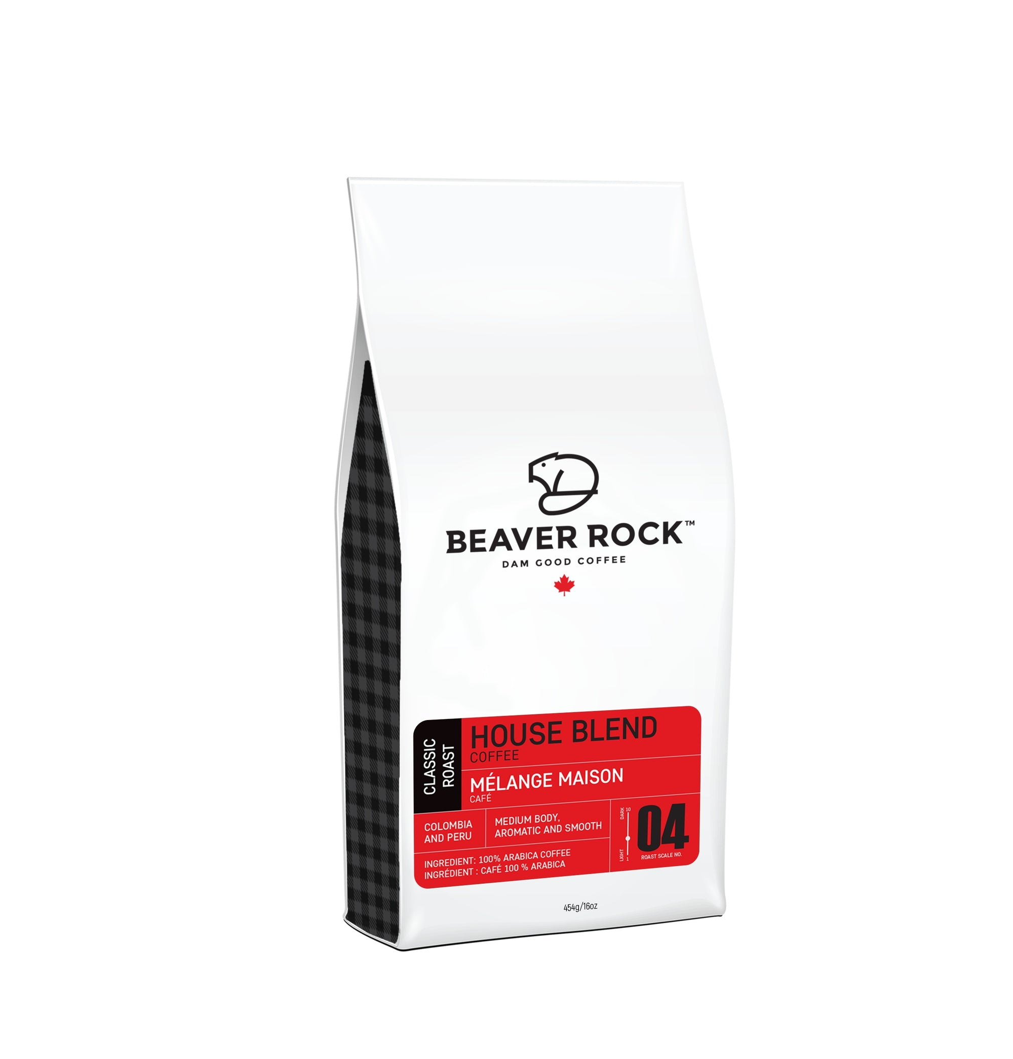 Food & Drink - Beaver Rock - House Blend Full Bean Coffee, 454g