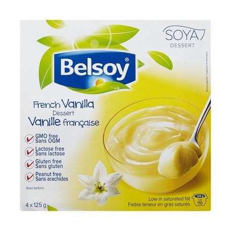 Food & Drink - Belsoy - French Vanilla Pudding, 4x125g