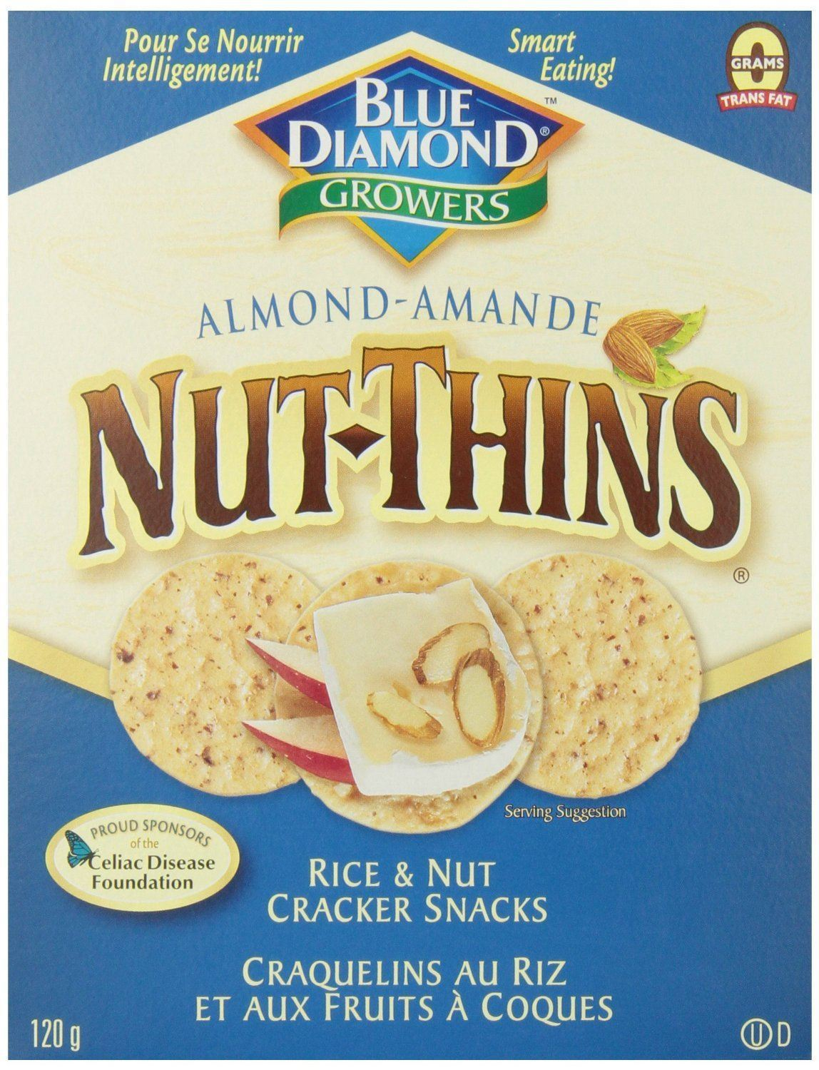 Food & Drink - Blue Diamond - Nut-Thins - Almond, 120g