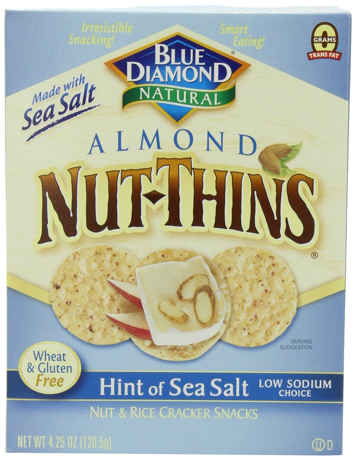 Food & Drink - Blue Diamond - Nut-Thins Sea Salt, 120g
