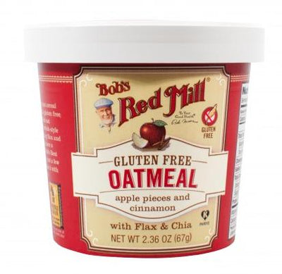 Food & Drink - Bob's Red Mill - Gluten-Free Apple Cinnamon Oatmeal Cup, 67g