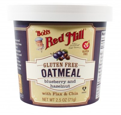 Food & Drink - Bob's Red Mill - Gluten-Free Blueberry Hazelnut Oatmeal Cup, 71g