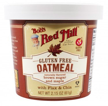 Food & Drink - Bob's Red Mill - Gluten-Free Brown Sugar & Maple Oatmeal Cup, 61g