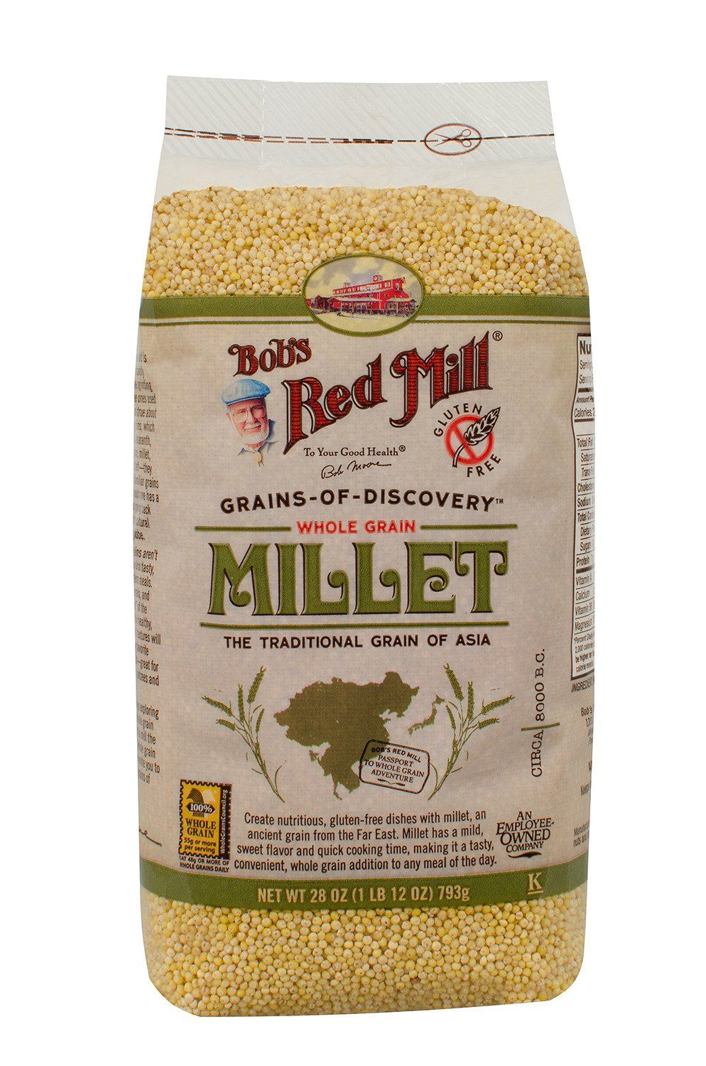 Food & Drink - Bob's Red Mill - Hulled Millet, 793g