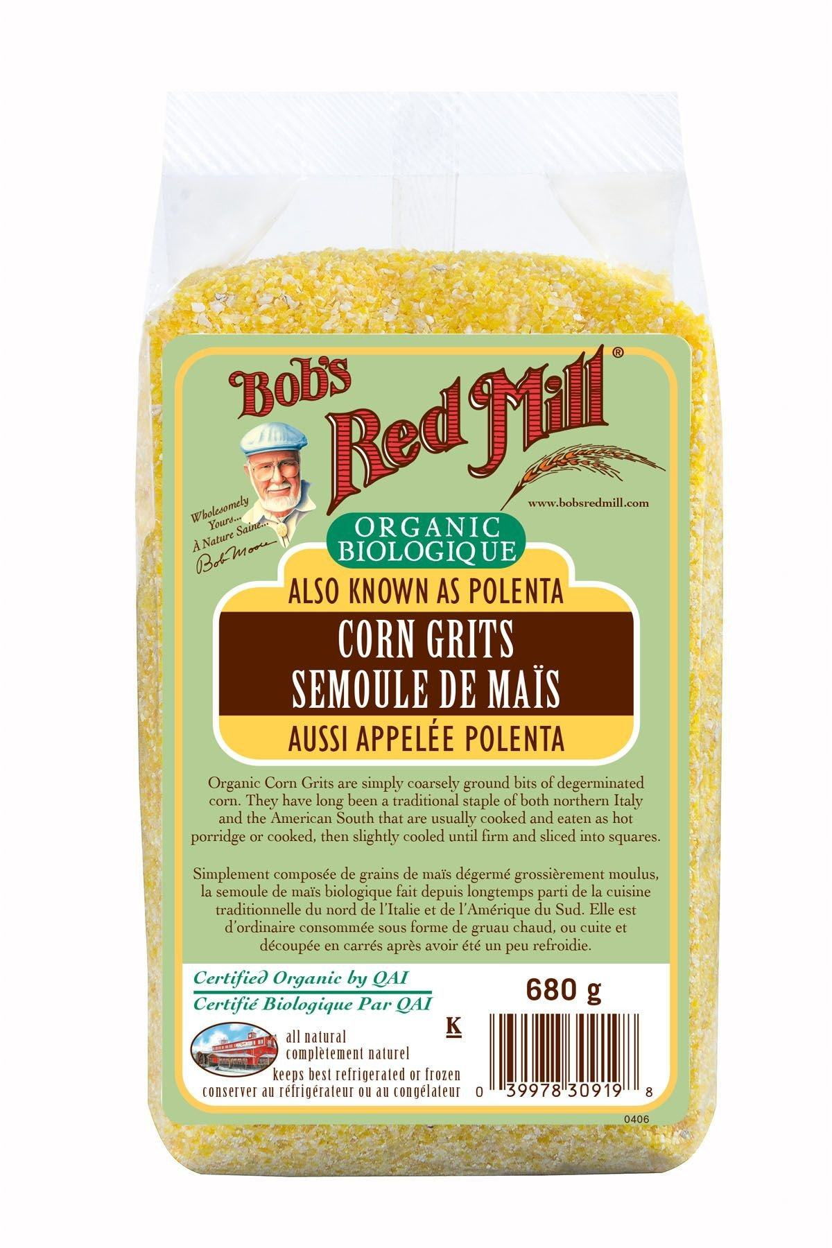 Food & Drink - Bob's Red Mill - Organic Corn Grits (Polenta), 680g