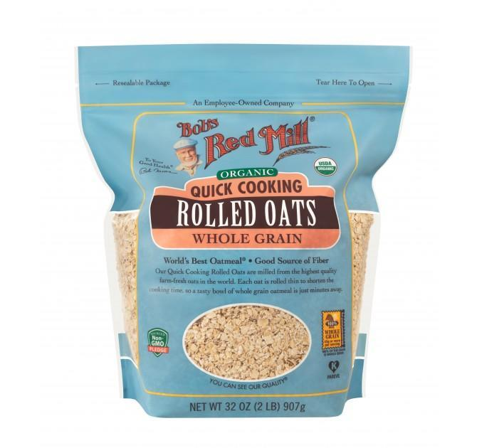 Food & Drink - Bob's Red Mill - Organic Quick Cooking Rolled Oats, 907g