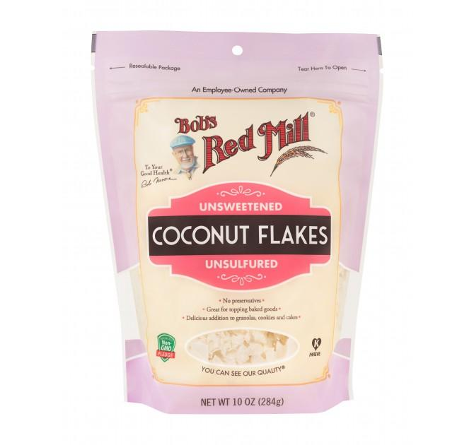 Food & Drink - Bob's Red Mill - Unsweetened Coconut Flakes, 284g