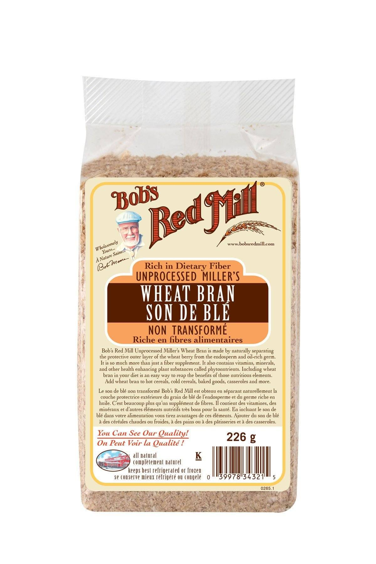 Food & Drink - Bob's Red Mill - Wheat Bran, 226g