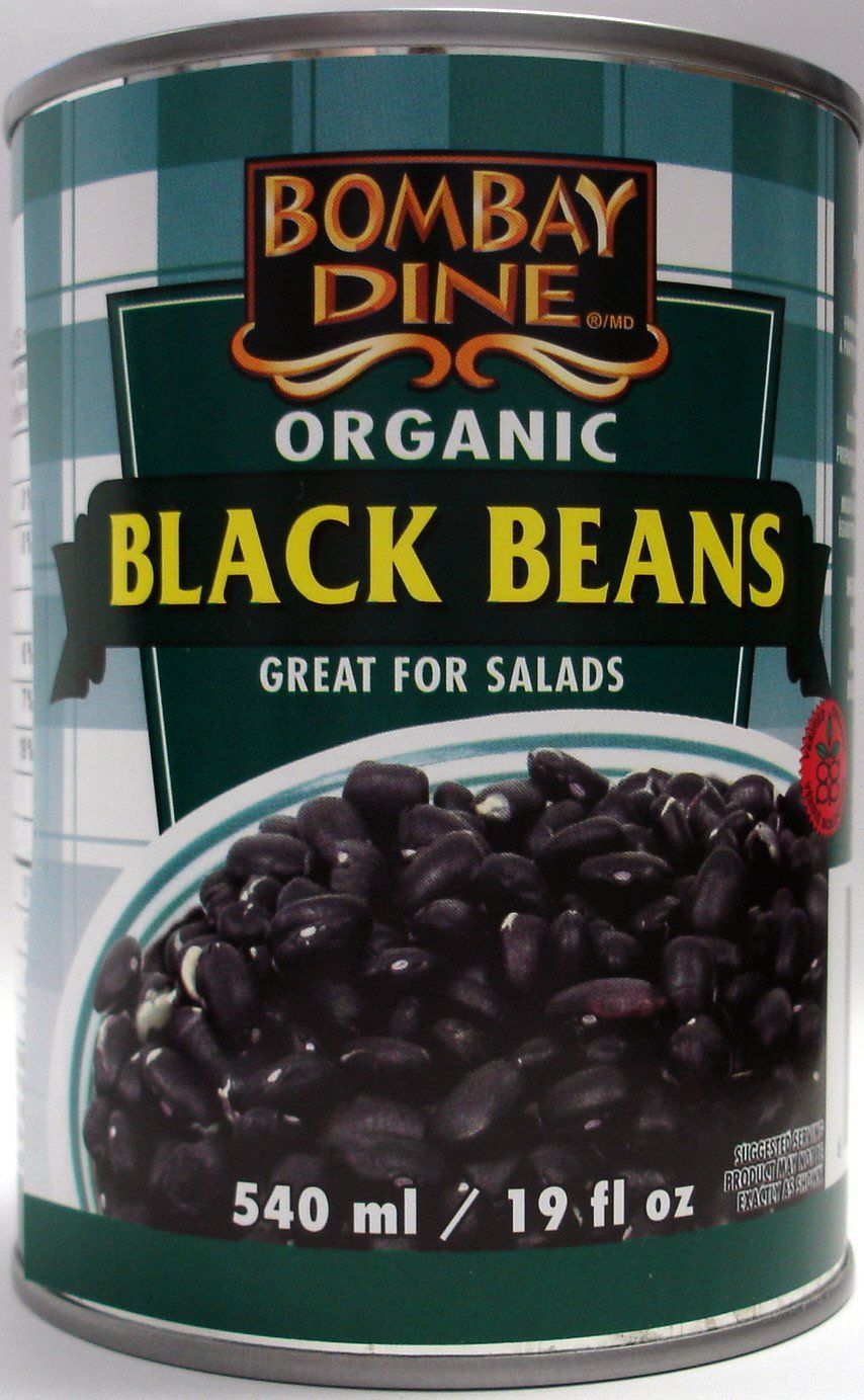 Food & Drink - Bombay Dine - Organic Black Beans, 540ml