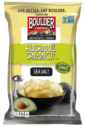 Food & Drink - Boulder Canyon Natural Foods - Avocado Oil Canyon Cut Chips, 149g