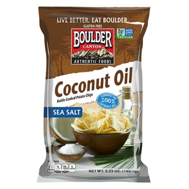 Food & Drink - Boulder Canyon Natural Foods -Canyon Cut Coconut Oil Kettle Chips, 128g
