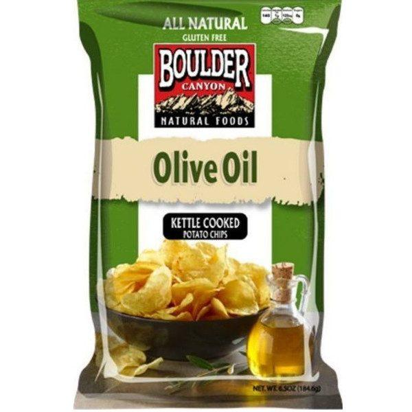 Food & Drink - Boulder Canyon Natural Foods -  Olive Oil Kettle Cooked Potato Chips