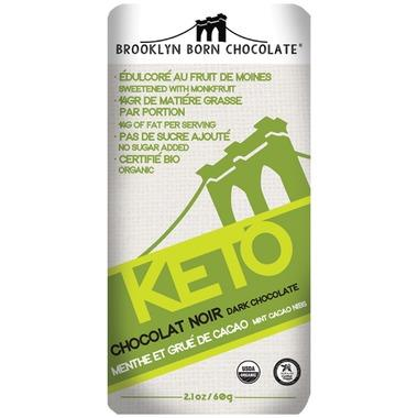 Food & Drink - Brooklyn Born - Keto Chocolate - Mint Cacao Nibs, 60g