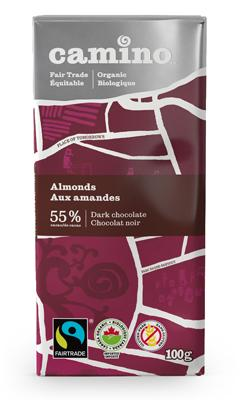Food & Drink - Camino - Almonds Chocolate Bar, 100g