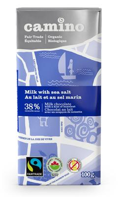 Food & Drink - Camino - Milk With Sea Salt Chocolate Bar, 100g