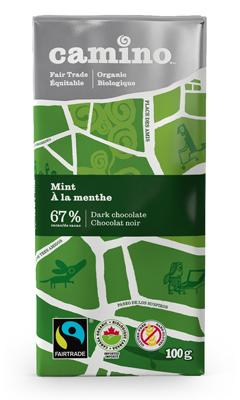 Food & Drink - Camino - Mint Chocolate Bar, 100g