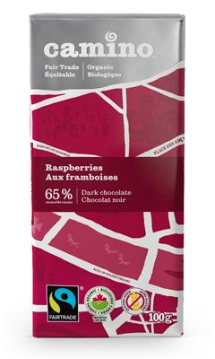 Food & Drink - Camino - Raspberries Chocolate Bar, 100g