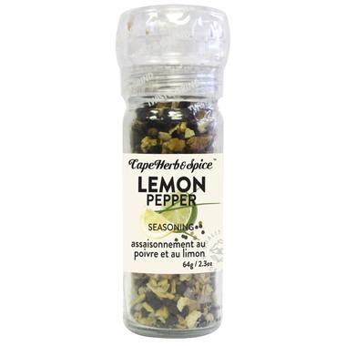 Food & Drink - Cape Herb & Spice Company - Lemon Pepper Seasoning Grinder, 64G