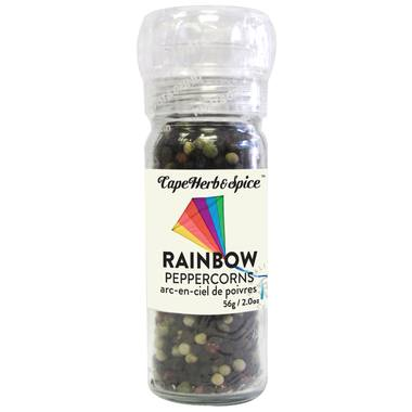 Food & Drink - Cape Herb & Spice Company - Rainbow Peppercorns Grinder, 56G