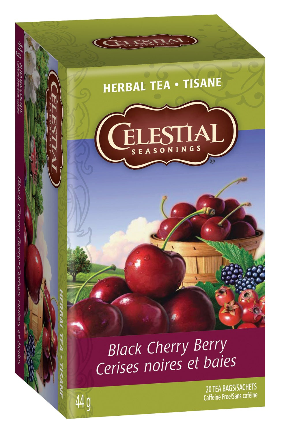 Food & Drink - Celestial Seasonings - Black Cherry Berry Herbal Tea, 20bags