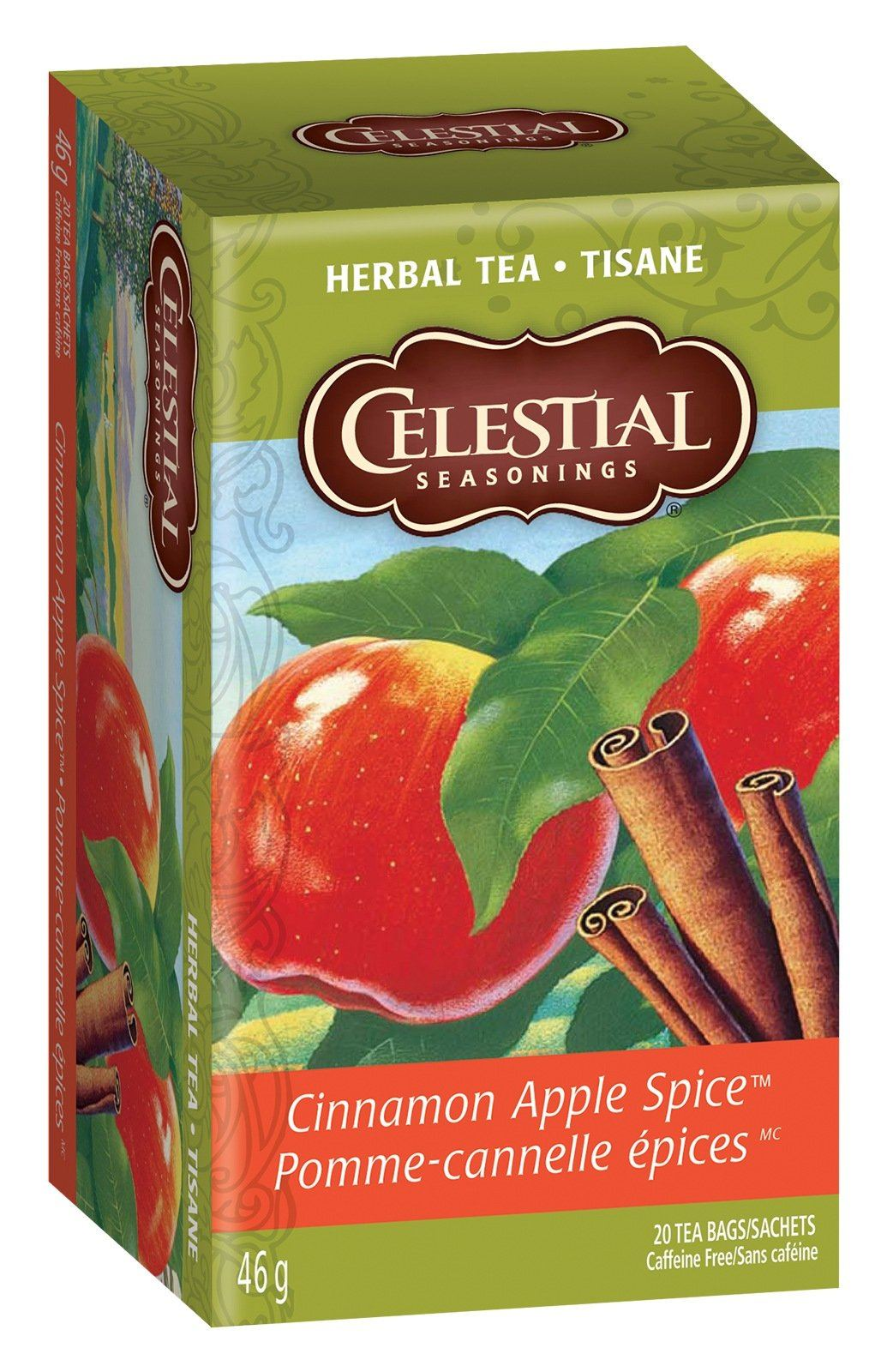 Food & Drink - Celestial Seasonings - Cinnamon Apple Spice Tea, 20bags