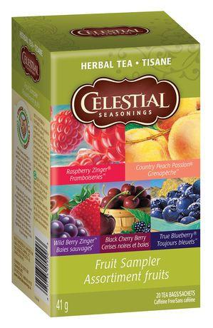 Food & Drink - Celestial Seasonings - Fruit Herbal Tea Sampler, 20 Bags