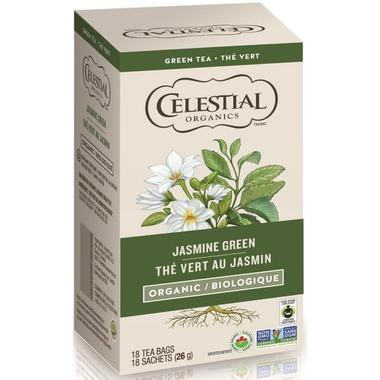 Food & Drink - Celestial Seasonings - Org. Jasmine Green Tea - 18 TEA BAGS