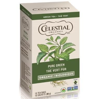 Food & Drink - Celestial Seasonings - Org. Pure Green Tea - 18 TEA BAGS