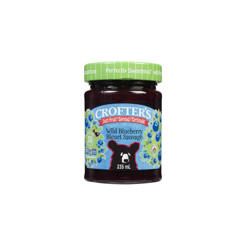 Food & Drink - Crofter's - Just Fruit Organic Blueberry Spread, 235ml