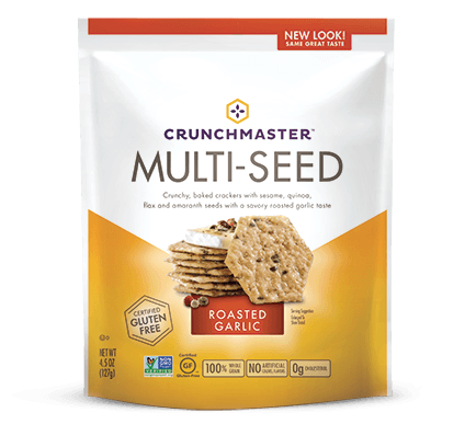 Food & Drink - Crunchmaster - Roasted Garlic Multi-Seed Cracker, 128g