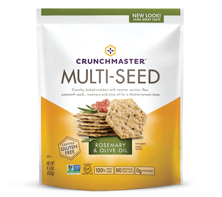 Food & Drink - Crunchmaster - Rosemary & Olive Oil Multi-Seed Cracker, 128g