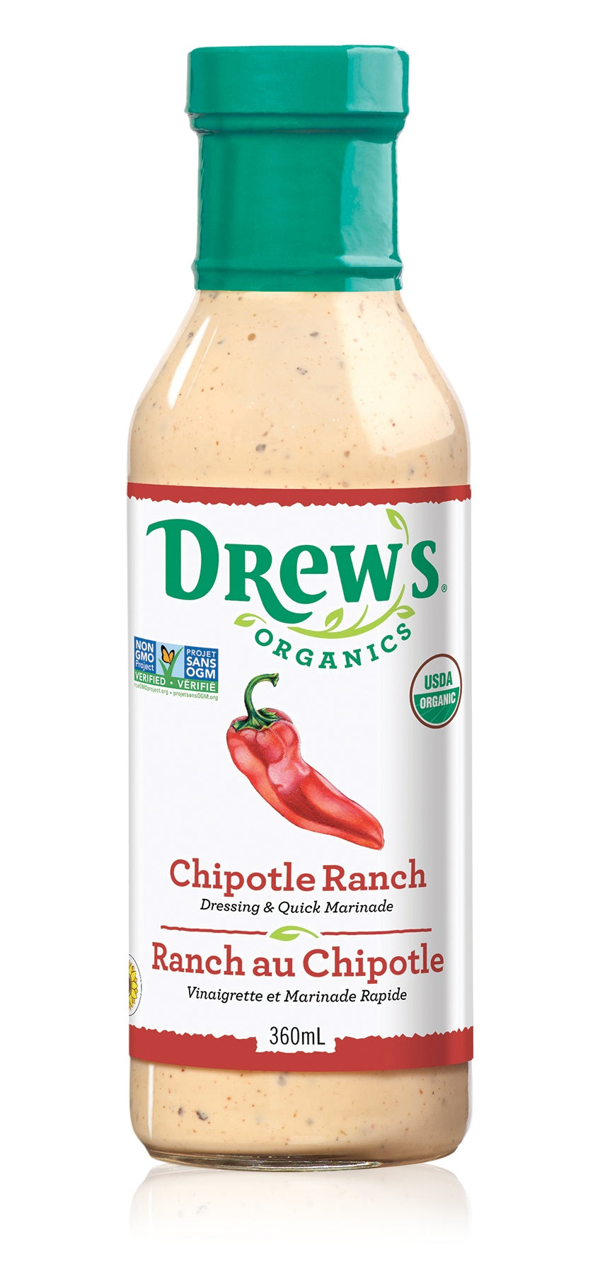 Food & Drink - Drew's - Chipotle Ranch Dressing, 360ml