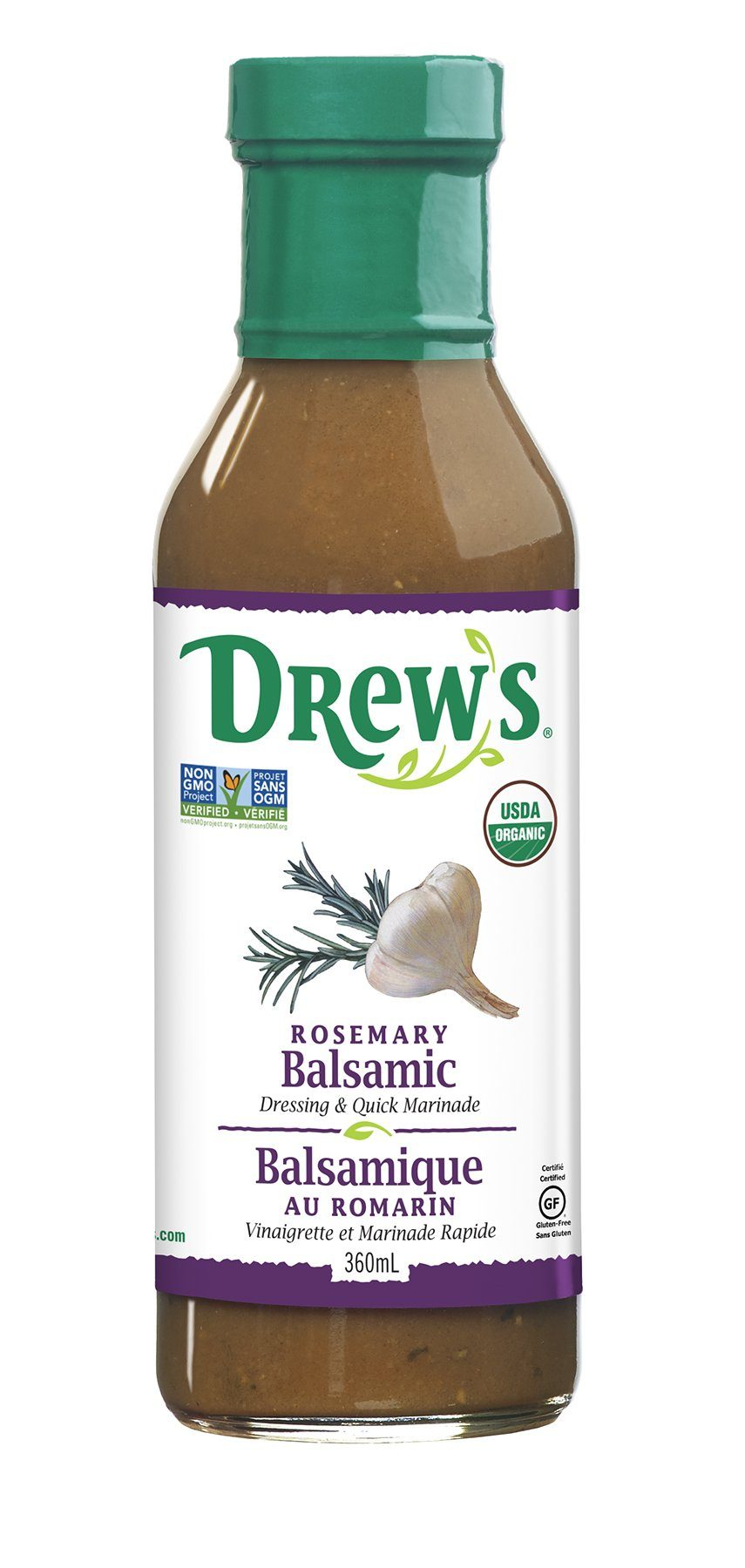 Food & Drink - Drew's - Rosemary Balsamic Dressing - 360ml