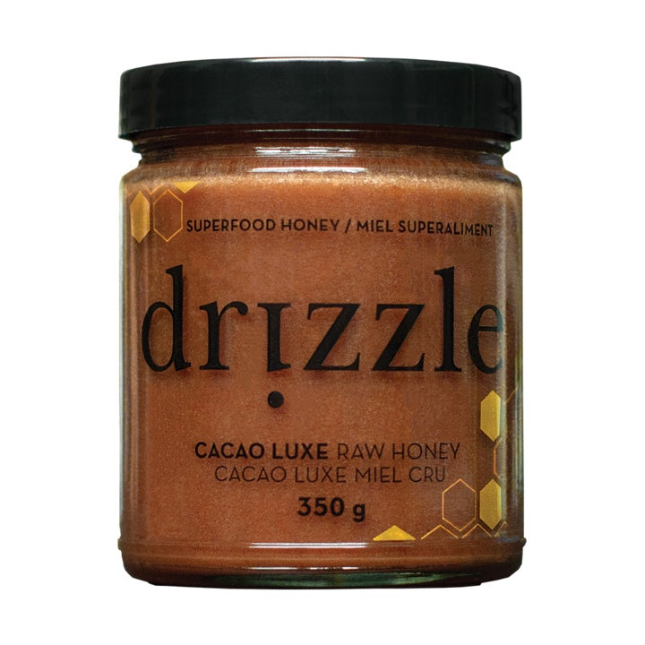 Food & Drink - Drizzle Honey - Cacao Luxe Raw Honey, 350g