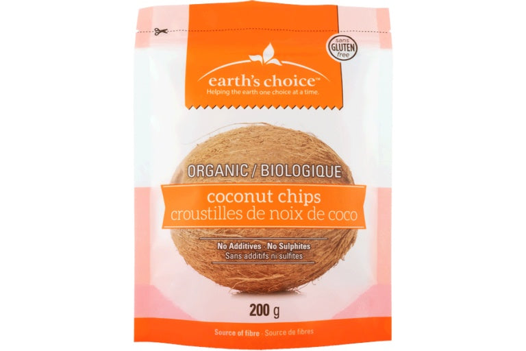 Food & Drink - Earths Choice Organic Coconut Chips 200g