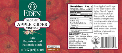 Food & Drink - Eden - Organic Apple Cider Vinegar, 473ml