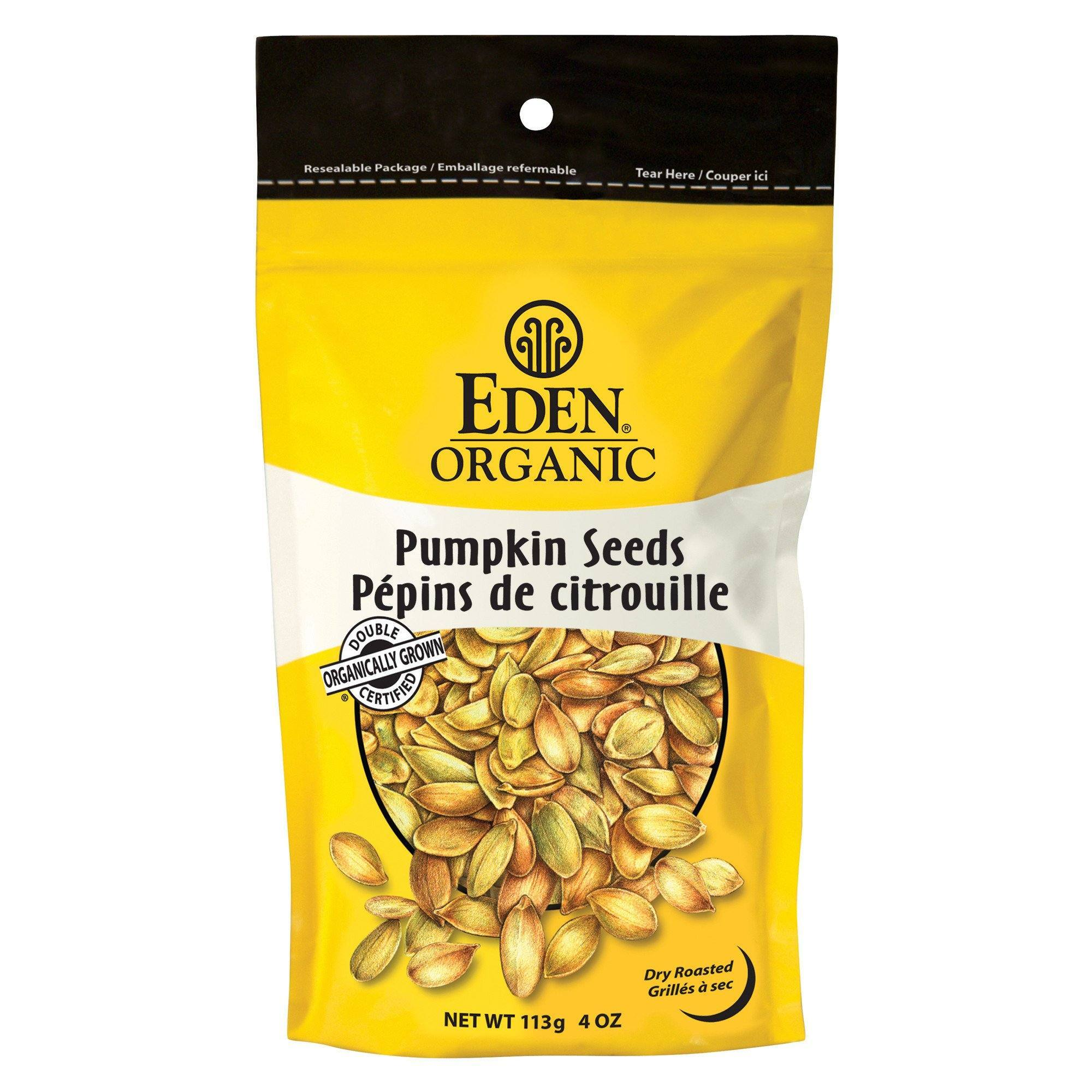 Food & Drink - Eden - Organic Dry Roasted Pumpkin Seeds, 113g