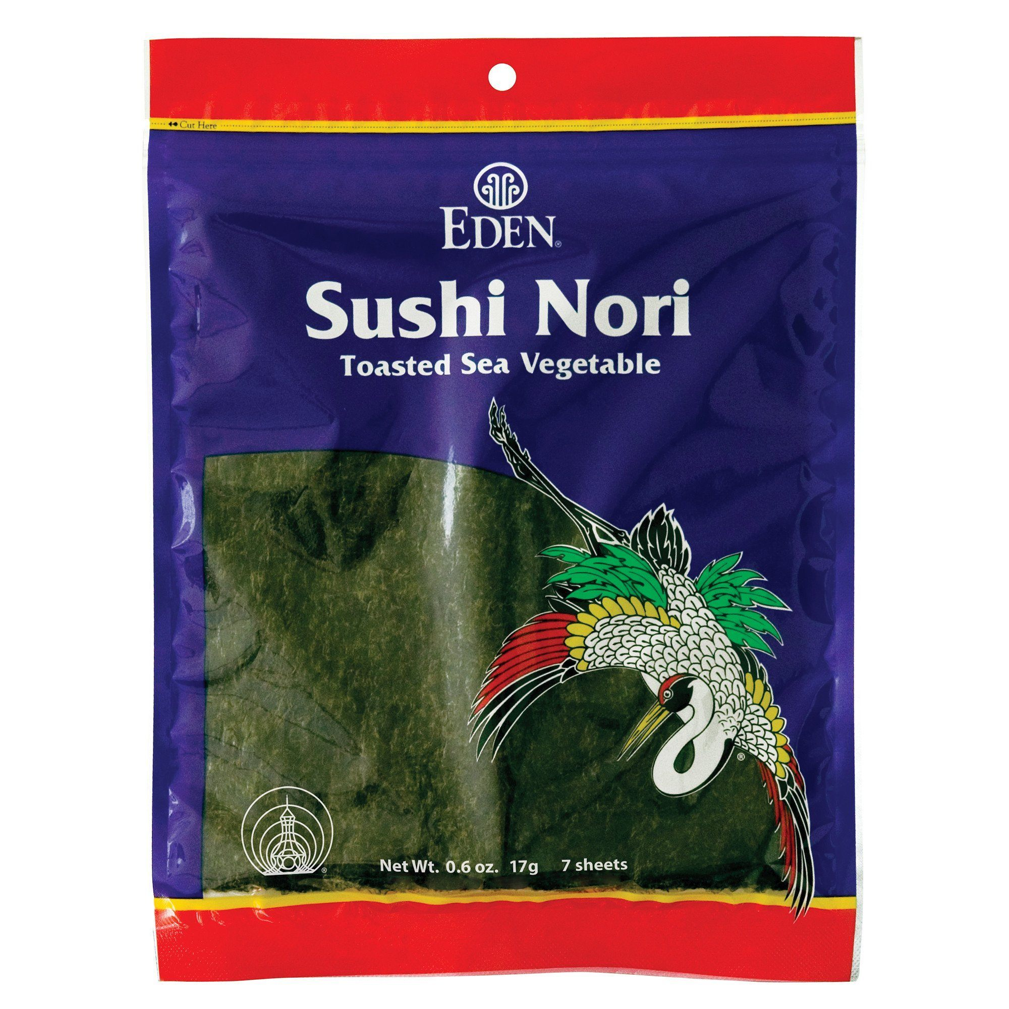 Food & Drink - Eden - Sushi Nori Sea Vegetable, 17g